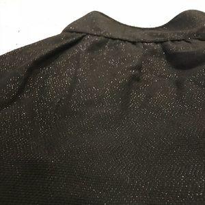 Banana Republic Sparkle Black Mini Skirt